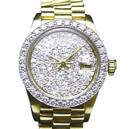 "Rolex ""Datejust President 18K Gold 15 Diamonds"""