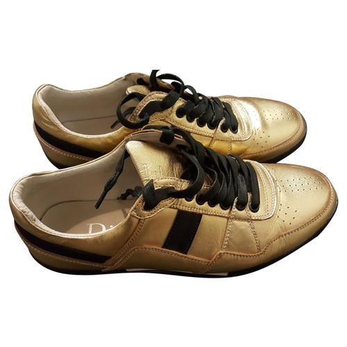scaricare la consegna colore n brillante amazon Christian Dior Scarpe da ginnastica color oro - Second hand ...