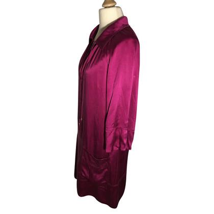 Diane von Furstenberg zijden jurk in Magenta