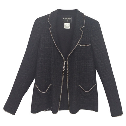 Chanel Bouclé blazer in black