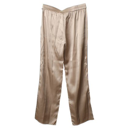 Iris von Arnim Silk trousers in beige