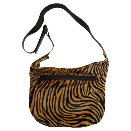 Laurèl Handbag with tiger print