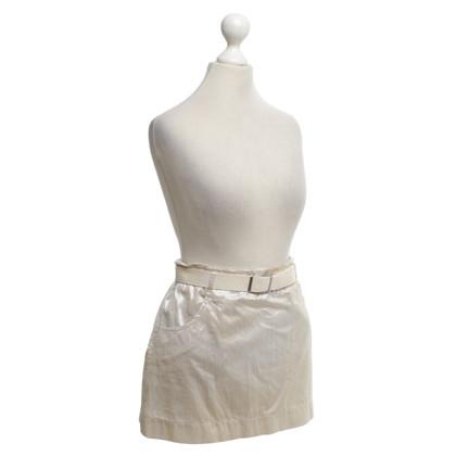 Prada skirt in cream / gold