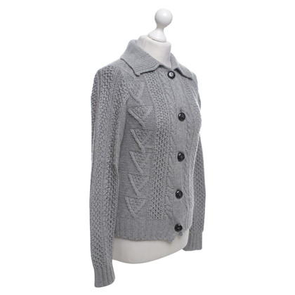Bruno Manetti Kaschmir-Strickjacke in Grau