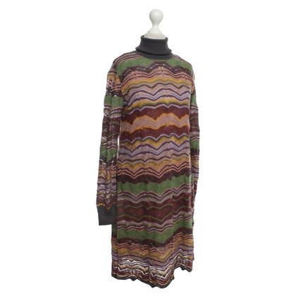 Missoni Colorful Turtleneck dress