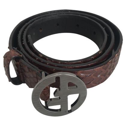 Giorgio Armani Belt with logo clasp