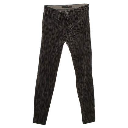 J Brand Samtjeans with pattern