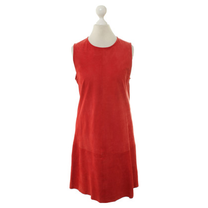 Balenciaga Suede dress in red