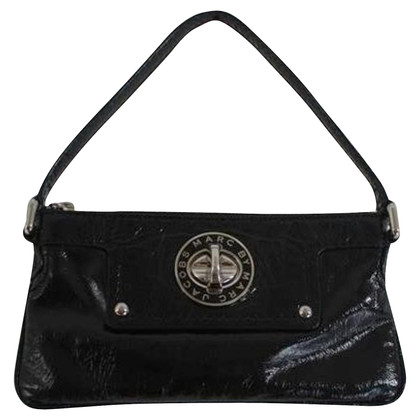 Marc by Marc Jacobs clutch made of black patent leather