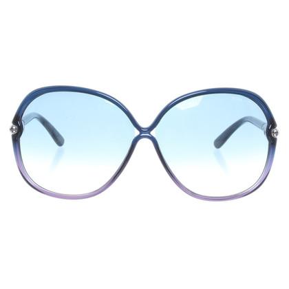 Tom Ford Occhiali da sole rotondi con gradiente