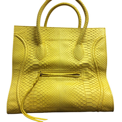 "Céline ""Trapeze Bag"" python leather"