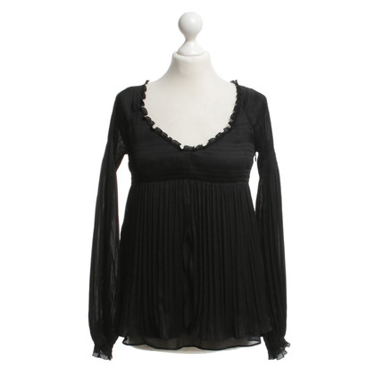 Diane von Furstenberg Pleated blouse in black