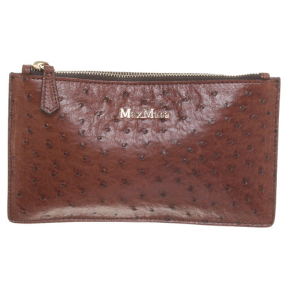 Max Mara Ostrich leather wallet