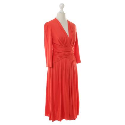 Issa zijden jurk in het rood