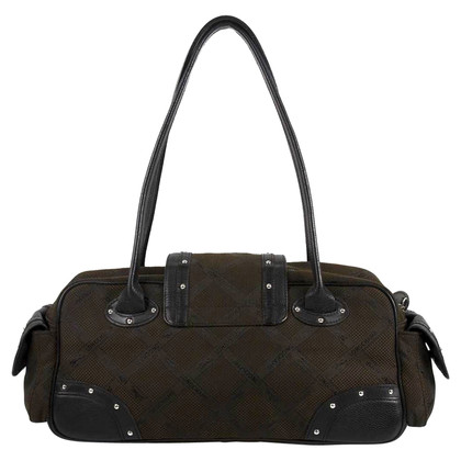 Longchamp Marron Noir Baguette Bag