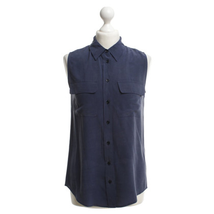 Equipment Seidenbluse in Blau
