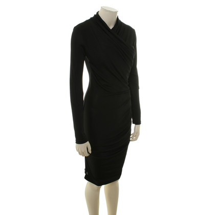 Guido Maria Kretschmer Silk dress in black