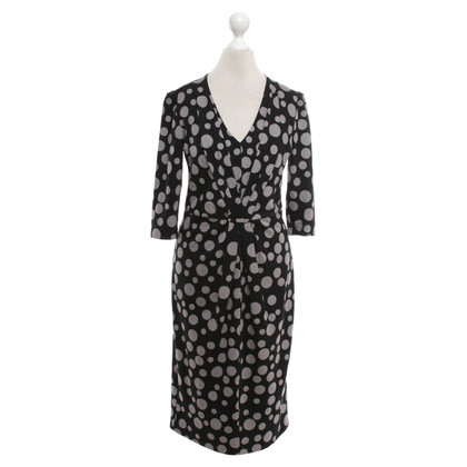 Armani Collezioni Polka Dot Dress in Black / grey