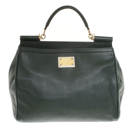 "Dolce & Gabbana Tannengrüne handbag ""Sicily"""