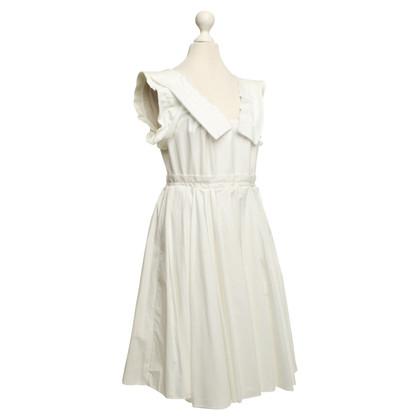 Miu Miu abito di cotone in bianco