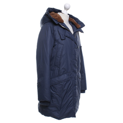 Closed Parka with brown fur trim