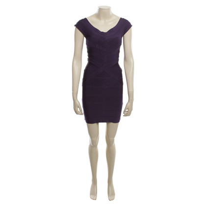Hervé Léger Dress in violet