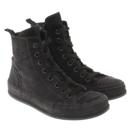 Ann Demeulemeester Wild leather sneakers in anthracite
