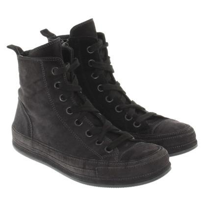 Ann Demeulemeester Wildleder-Sneakers in Anthrazit