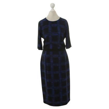 Hugo Boss Gedessineerde jurk in blauw