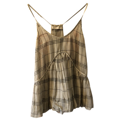 Stella McCartney Silk top with checked pattern