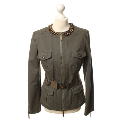 Elisabetta Franchi Short jacket in khaki