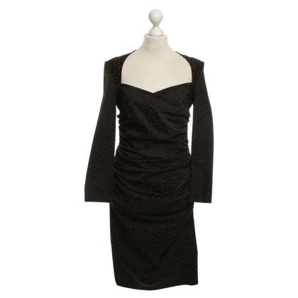 Talbot Runhof Dress with Leopard print