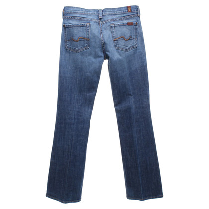 7 For All Mankind Bootcut-Jeans in Blau