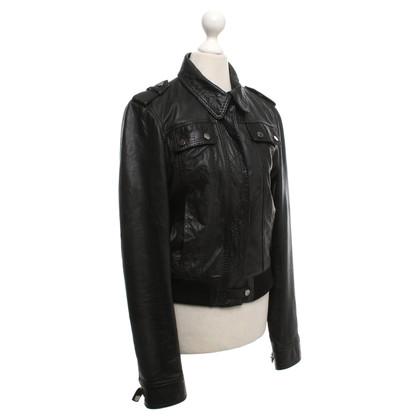 JOOP! Leather jacket in black