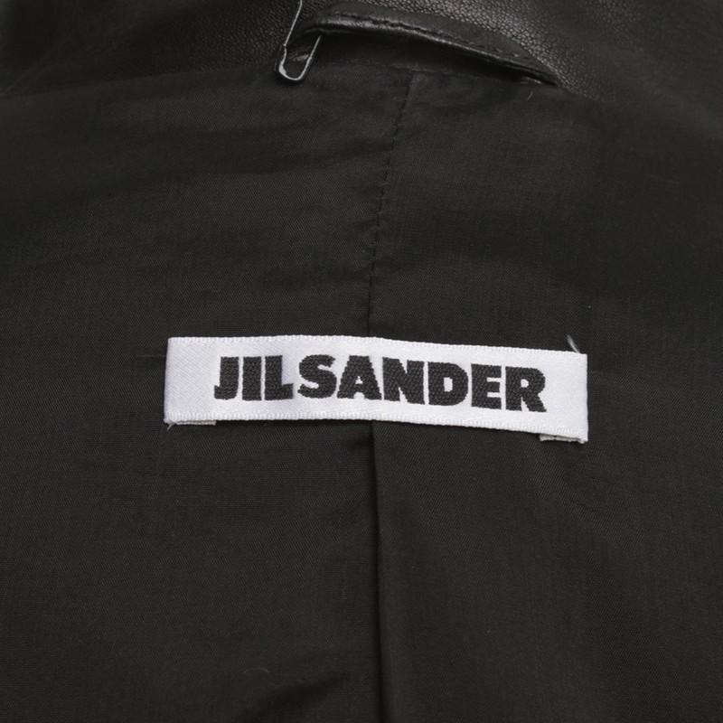 Jil Sander Giacca in pelle in Black Second hand Jil Sander