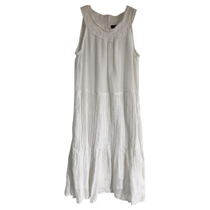 Max Mara Linnen jurk in wit