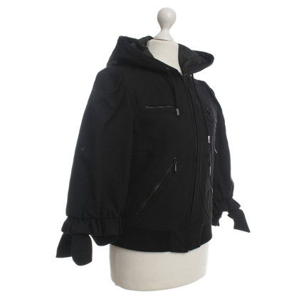 Viktor & Rolf Short jacket with hood in black