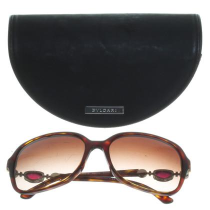 Bulgari Große Sonnenbrille in Horn-Optik