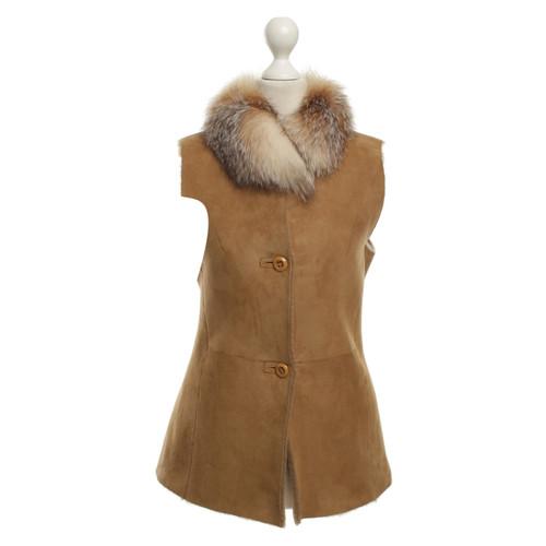 Furry Gilet avec col en fourrure - Acheter Furry Gilet avec col en ... 2e6ea74d427d
