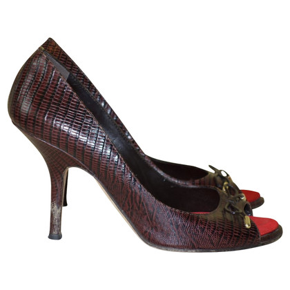Dsquared2 Peep-toes with reptile embossing