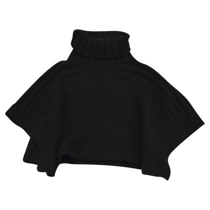 Coccinelle Poncho en laine noire