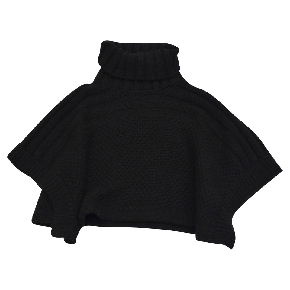 Coccinelle Poncho made of black wool