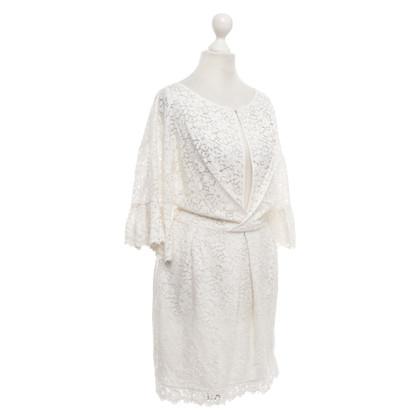 Elisabetta Franchi Lace dress in white