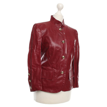 Gucci Leather Jacket in Bordeaux