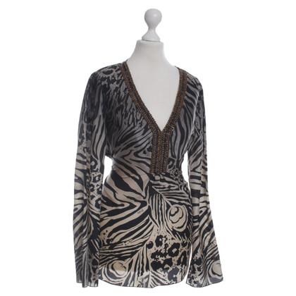 Hale Bob Luipaard print zijden blouse