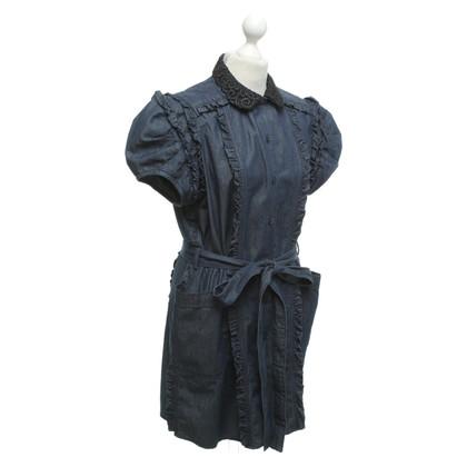 Miu Miu Oversize-Blusenkleid aus Denim