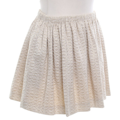Maje skirt in gold / beige