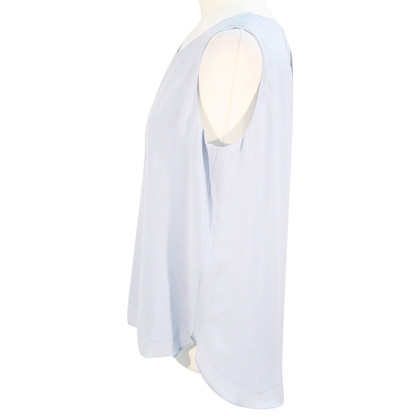 Hobbs Top in seta in Blue