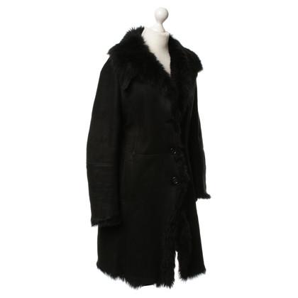 Fratelli Rossetti Cappotto di pelle nero