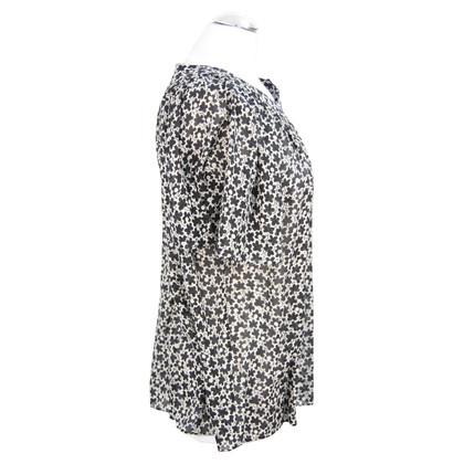 Whistles Top in seta in bianco e nero